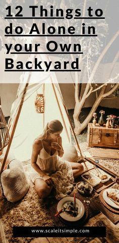 Spending time alone in your backyard doesn't have to be boring. Try some of these activities that you can do by yourself right at home. Simple Living Blog, Simple Blog, How To Make Sandwich, Outdoor Yoga, Things To Do Alone, Buying A New Home, Best Blogs, Start The Day, Alone At Home