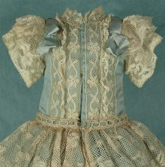 Wonderful Antique French Valenciennes Lace Bebe Dress for JUMEAU, BRU from mybebes on Ruby Lane