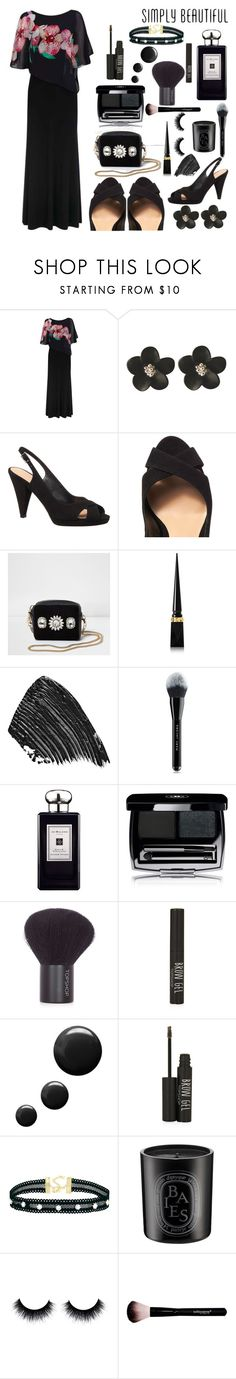 """""""Black Orchid"""" by eternal-collection on Polyvore featuring Black Orchid, Phase Eight, River Island, Christian Louboutin, Marc Jacobs, Jo Malone, Topshop and Diptyque"""