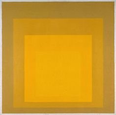 Josef Albers - 1888–1976 - Study for Homage to the Square: Departing in Yellow - 1964