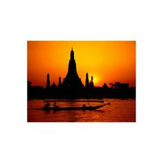 Temple of Dawn in Bangkok, Thailand Photographic Wall Art Print ($35) ❤ liked on Polyvore