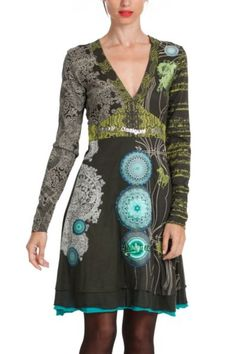Desigual women's Tibet dress. We'd go as far as saying that this is one of the most legendary styles in the history of Desigual. You're bound to recognise it...