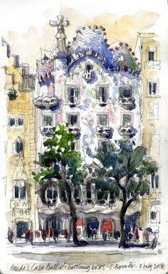 Drawing Perspectives: Barcelona 2, Gaudí!!!