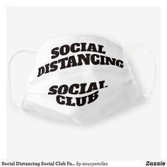 Shop Social Distancing Social Club Face Mask created by saucysmiles. Funny Face Mask, Face Masks, Club Face, Social Club, Sensitive Skin, Funny Pictures, Humor, Check, Fanny Pics