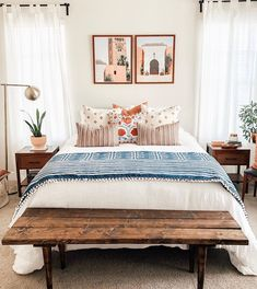 Day 3 of Seven Days Of Sales and today's deal goes to SUZANI PILLOWS! These gorgeous pillows, embroidered by hand in Turkey, are some of… Home Bedroom, Room Decor Bedroom, Bedrooms, Cute Bedroom Ideas, Aesthetic Room Decor, My New Room, Home And Living, Room Inspiration, Home Remodeling