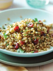 Wheat Berry Salad with Cranberries and Herbs. Photo by Annabelle Breakey