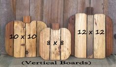 Pallets Woodworking Items similar to Pallet Wood Pumpkins (Unfinished Wood) Fall Pumpkins Porch Pumpkins Autumn Thanksgiving Halloween Decor (Set of on Etsy - Pallet Crafts, Pallet Art, Wooden Crafts, Pallet Ideas, Pallet Signs, Wood Signs, Wooden Pumpkins, Fall Pumpkins, Wood Pallets