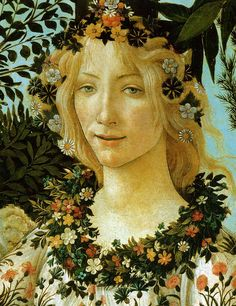 It is an honour to have my work compared with #SandroBotticelli: La #Primavera (#Allegory of #Spring), detail of #Flora.