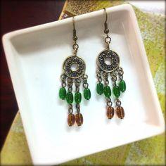 Boho inspired earrings. Handmade and hip by @yousonnamabead