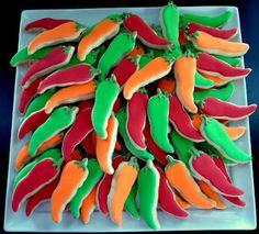 chili pepper sugar cookies @melanie wilson   chili cookoff