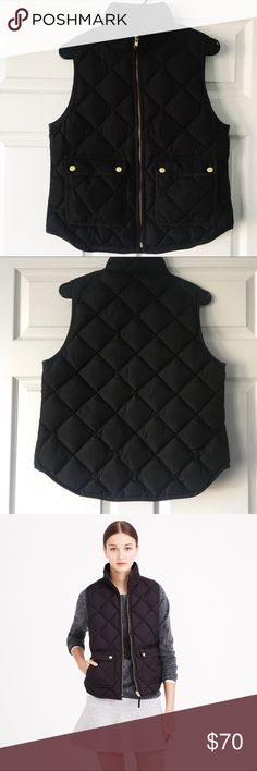 """J.Crew Petite Quilted Excursion Down Vest EUC- really cute & lightweight, great for layering. Size PETITE MEDIUM (fits like size S/ 4, for reference I'm 5'4"""" 125 lbs and fits perfectly) J. Crew Jackets & Coats Vests"""