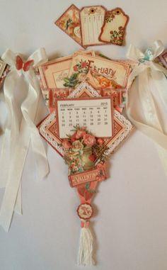 annes papercreations: Graphic 45 Time to Flourish banner mini album #timetoflourish #graphic45 #calendar
