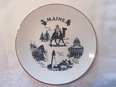 Assiette décorative  Maine  Vintage de la boutique Roselynn55 sur Etsy