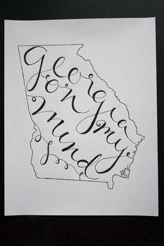 How to: Handlettering in States | crazy beautiful #handlettering
