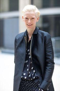 #tilda #swinton #dots #celebrities #fashion #icon