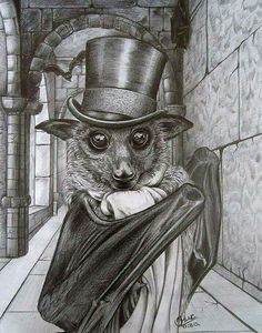 A dapper Steampunk bat