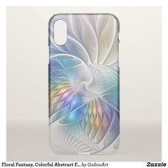 Floral Fantasy, Colorful Abstract Fractal Flower iPhone X Case