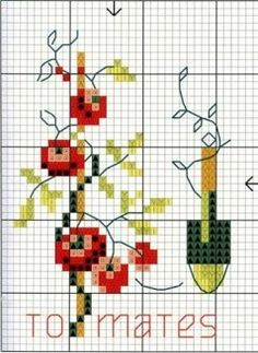 Tomato Garden ♥ cross stitch pattern xstitch
