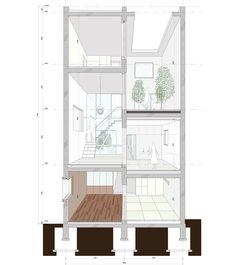K2YT arranges garden courtyards throughout house k in tokyo