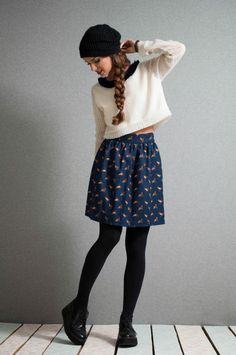Mini Skirt Blue skirt pleated skirt animal by LeMoutonBleuShop