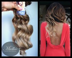 Malibu Ombre Clip In Hair Extensions / Luxury Quality Russian 100 ...