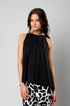 Black top in A line Spring Summer 2016, Line, Black Tops, Woman, Collection, Fishing Line, Women