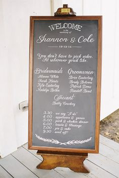 This one's a wedding chalkboard sign to set on the floor or ground. She will do the design however you want. (scroll down to #2 on the page). #MyOnlineWeddingHelp