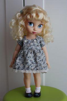Dress flowers blue doll Disney Animator / Bluegrey by LidMemories