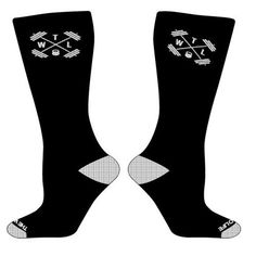 TWL High Performance - Crew Socks - Black & White - $13.95