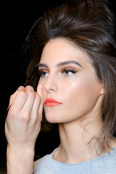 8 Orange Lipstick Makeup Looks that Prove It this Spring Beauty Trend Looks Good on Everyone @stylecaster