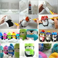 Winter Crafts to make with Kids: Pop bottle Penguins from The Weekly Round Up Plastic Bottle Decoration, Plastic Bottle Crafts, Plastic Bottles, Soda Bottles, Drink Bottles, Diy Bottle, Water Bottle, Cute Crafts, Crafts To Make