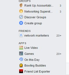 "ORGANISE YOUR FRIENDS LIST  You probably have well over 1000 friends on your personal profile by now and it can be hard to know who they all are.  So a great tool is to organise your friends list by category.  If you go down to ""friends"" on the right hand side of your home screen and hover your cursor at the right hand side of this column ""more"" will come up.  Click there and it will take you to a separate screen where you can create a list.  It is up to you how you organise them but it is a…"