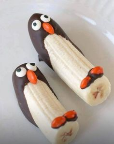 Een pinguïn bananen traktatie. Blog de leukste traktaties voor school.