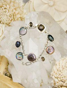 Black pearls, smokey topaz & sterling silver- www.JessicaAlexanderJewelry.com