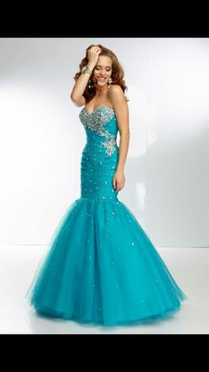 My Blue turquoise prom dress:D