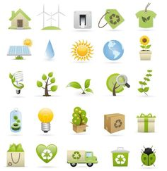 Fresh & Clean ECO Concept Vector Icons