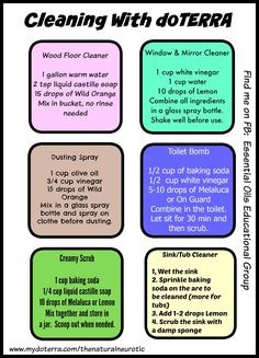 Cleaning with Essential Oils More