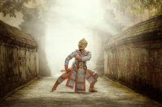 Art culture Thailand Dancing in masked Khon Hanuman