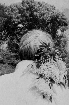 Colette Saint Yves Saint Yves, Black And White Aesthetic, Holding Flowers, Close My Eyes, Far Away, Wild Flowers, Find Image, Art Photography, Scene