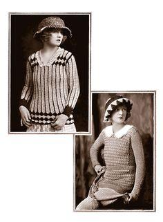 Free patterns: women's knit sweaters