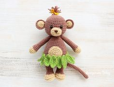 Cuddle Me Monkey Amigurumi - Free pattern