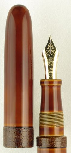 Nakaya Portable Cigar String-Rolled Shiro-tamenuri Fountain Pen