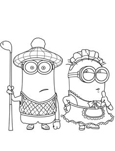 Minions Coloring Printables  Download and Print despicable me