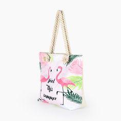 Hot Flamingo Printed Bag – Baqala Store Summer Tote Bags, Flamingo Print, Printed Bags, You Bag, Bag Sale, Summer Beach, Bucket Bag, Dust Bag, Reusable Tote Bags