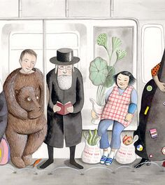 Sophie Blackall's NYC Subway poster for the New York MTA Arts for Transit program.