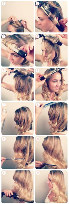 How to do a soft fingerwave. Love this vintage look!