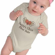 Daddys Little Biker Babe Baby Girl Tshirts from Zazzle.com