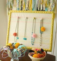 DIY jewelry display for craft show by jennie