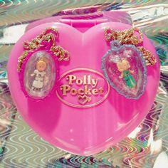 Jewel Surprise Locket & Rose Dream Locket 1993 Baby Food Jar Crafts, Baby Food Jars, Polly Pocket World, Handkerchief Crafts, Doll Patterns Free, Handmade Angels, Bride Dolls, Craft Free, Crochet Doll Pattern