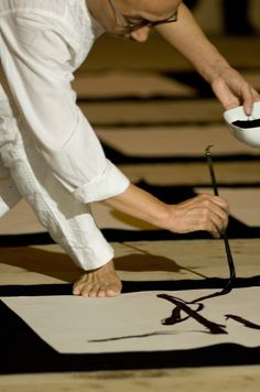 Calligraphy performance by Hiroyuki NAKAJIMA, Japan